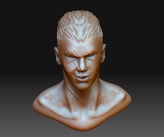 head zbrush sketch 2 by phongshader