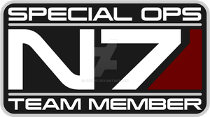 N7 Special Ops Team Member Custom Small Logo by cbunye