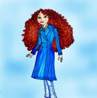 Merida the Princess in the Cafe by Selinelle