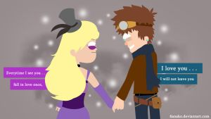 Ending: Pacifica and Dipper by 6anako