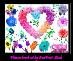 Flowers brush set by AnnFrost-stock