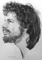 Pencil Drawing: Cat Stevens by SHParsons