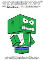 Cubeecraft - Homer 'Hulk' by CyberDrone