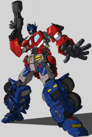 Optimus Prime by Blitz-Wing by JediKaputski