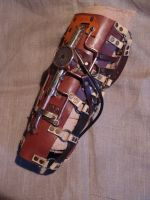 Steampunk shin guard by ChanceZero