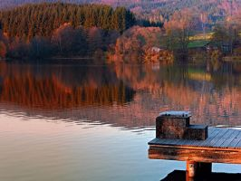 Romantic evening at the lake by patrickjobst