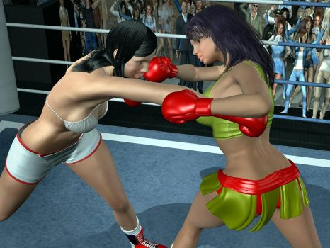 Commission: Guadalupe vs Yessica 03 by bx2000b
