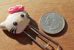 Polymer Clay Hello Kitty Bookmark by Sophie02