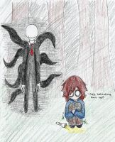 Playing slender by derpykittykat