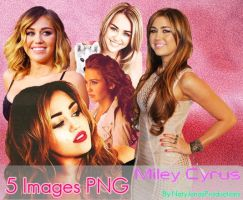 5 Images PNG- Miley Cyrus by NatyJonasProductions