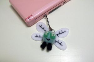 Needle felted Parasprite cell phone charm by SnowFox102