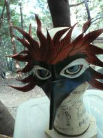 WooDPecKeR, leather mask by faerywhere