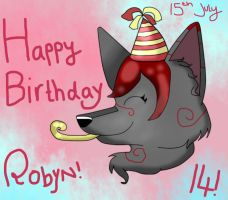 Happy (Early) Birthday Robyn! by KookiesNKreamCollie