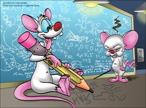Pinky and the Brain by ElectricDawgy