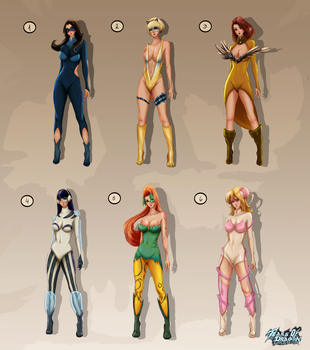 Super Hero Costumes by TearsofDragon
