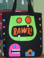 Custom Bag: Monster - 1 - $20 by kustom-kicks