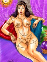 Dejah Thoris Relaxing by daikkenaurora