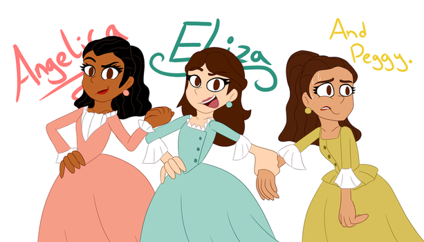 The Schuyler Sisters by NicoleDoodle64