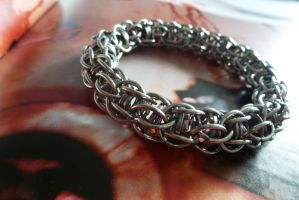 Stainless bangle by S-Chainmaille