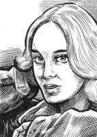Sketch Card: Catriona MacColl by dalgoda7