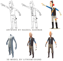 Lowpoly Hero progress (WIP) by lithium-sound