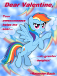 Rainbow Dash Valentine's Day Card by AleximusPrime