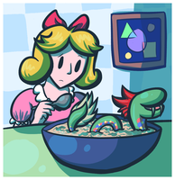 There's a Kraken in my Soup by Bluwiikoon