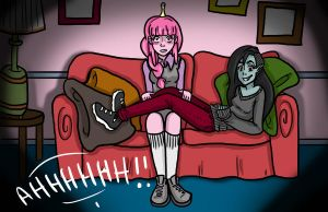 Bubbline : Watching A Movie (OTP Day 3) by CoffeeVulture