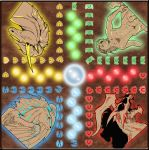 *Illu*Board game the Small Horses (Petits-Chevaux) by Noctume