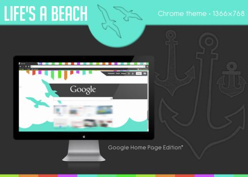 Life's a Beach (Chrome Home Screen Edition*) by MsUSA