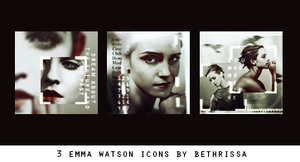 Emma Watson Icon Pack - 3 Icons by bethrissa