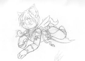 Quatre mage kitty pencils01 by Bee-chan