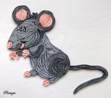 Quilled mouse by pinterzsu
