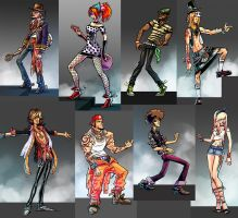 guitar rock tour 2 characters by hugohugo