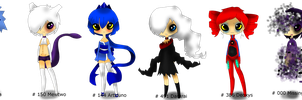 FREE legendary pokemon gijinka adoptables :closed: by owodoomkitty