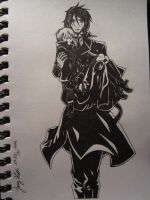 That Butler: Carrying his Master by Timelady93