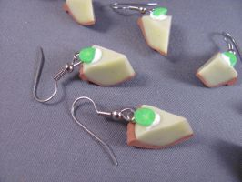 Key Lime Earrings by spongekitty