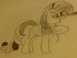 Oops Rarity sketch by French-Brony2727