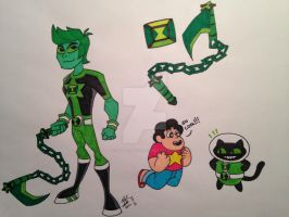 Ben 10/Steven Universe Crossover: Emerald by insanedude24