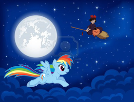 Flying In The Night by Pikachu-Train