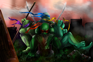 TMNT:be strong my brothers by WildRose91