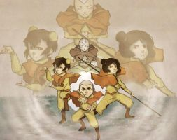 ATLA/LOK: Airbenders by Do0dlebugdebz