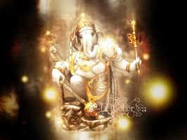 Ganesha Wallpaper by TrIXInc