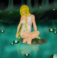 Girl in Pond by Pridipdiyoren