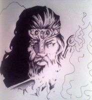 Viking Doodle. by Sampixie