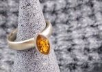Signa Sterling Silver Ring with Broad Shank by Shape-hunter