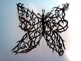 Butterfly paper cut (original design) by kagirinai-yume