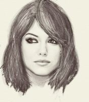 Emma Stone in Pencil by Pinky-Pain