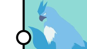 Articuno Minimalist Wallpaper by Narflarg