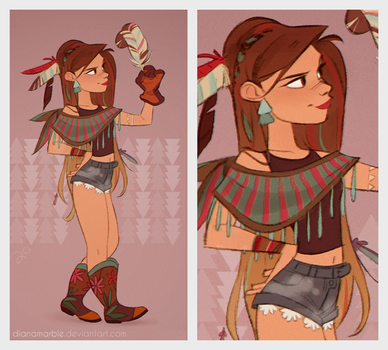 Boho Girl by DianaMaRble